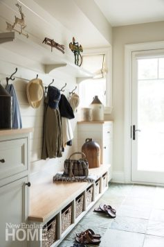 A well-equipped mudroom opens to the pool area.