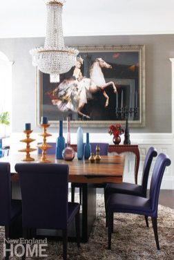 Family friendly penthouse crystal chandelier