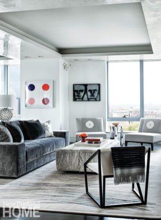 Contemporary Boston apartment living room