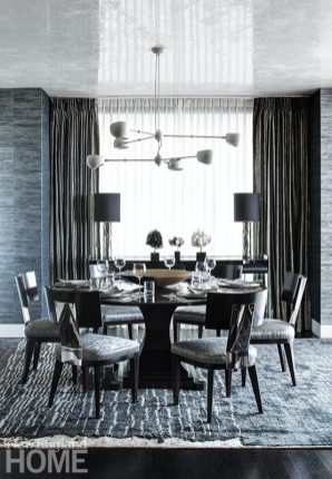 Contemporary Boston apartment dining room