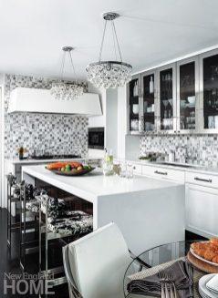 Contemporary Boston apartment kitchen