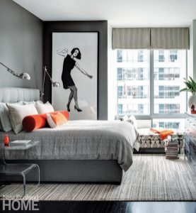Contemporary Boston apartment guest room