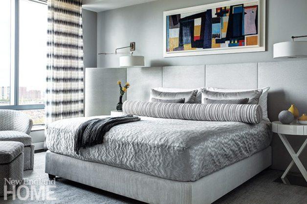 Contemporary Boston apartment master bedroom