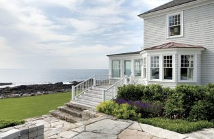 The owners fell in love with the house in part because of its views, which include iconic Maine landmarks such as the Isle of Shoals and Boone Island Lighthouse, the tallest lighthouse in New England.