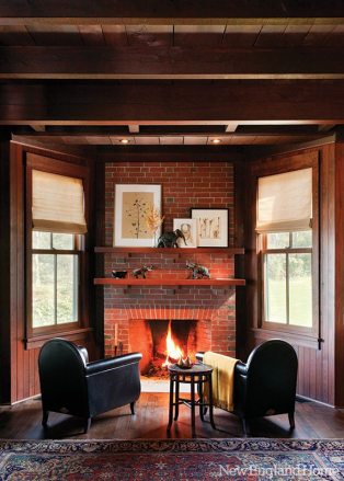 C & J Katz studio fireplace