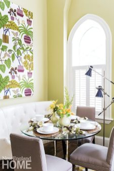 South End apartment designed by Nancy Serafini colorful botanicals