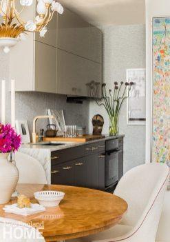 Back Bay condo for art collectors efficient kitchen