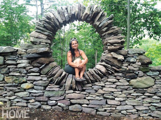Thea Alvin stonemason Dharma Door