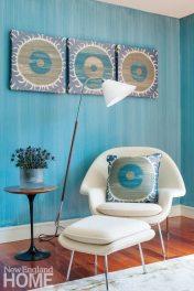 Eero Saarinen's Womb Chair turns a corner into a -mini-sanctuary.