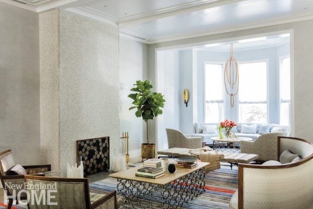 Contemporary Boston Townhouse Living Room