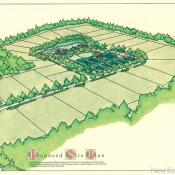 Site plan of one of the Field Club residences.