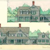 Elevations of one of the Field Club residences.