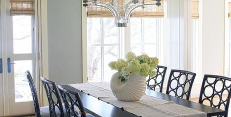 The airy dining room.