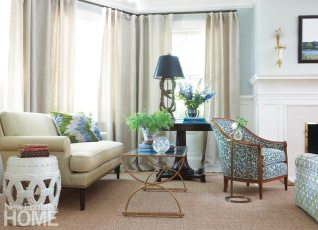 Southport Shingle Style Living Room