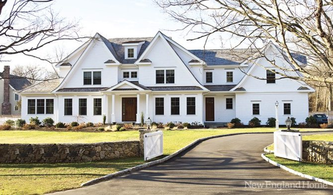 The homeowners were attracted to the rooflines of the Westport home.