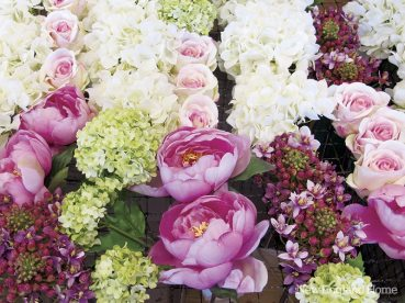 The prettiest blooms are lined up for arranging.