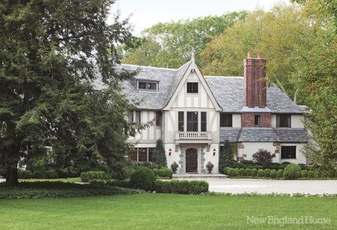 The Elizabethan-style home drew the owners with both its charm and its solid construction.