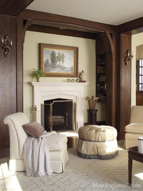 Snead custom-blended the soft mushroom wall color.