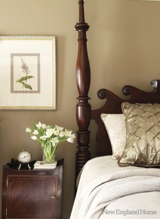 The four-poster bed is from Leonards.