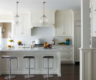 Clean and classic defines the kitchen.
