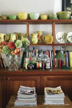 A Litchfield County couple's eclectic collections are right at home in a lovingly refurbished 1750 colonial.