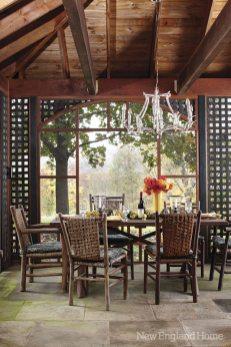 "A vintage chandelier--""in the spirit of Brighton"" says Paulette Peden--lights the porch."