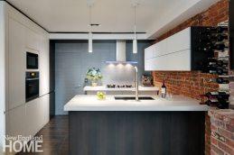 Kitchen designer Pierre Matta sees a trend toward high-gloss surfaces and flush, unbroken cabinetry.