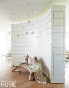 Contemporary Nantucket Shingle Style Foyer