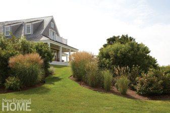 Contemporary Nantucket Shingle Style Landscape