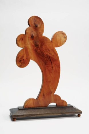 "Keep on Truckin' Tree (2009), apple wood and stained white oak, 14""W x 24""H x 7""D"