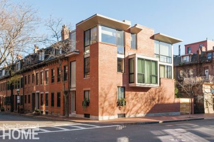 Contemporary Boston South End Townhouse Exterior