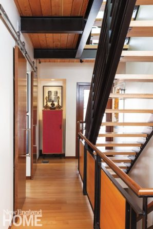 Contemporary Boston South End Townhouse Hallway