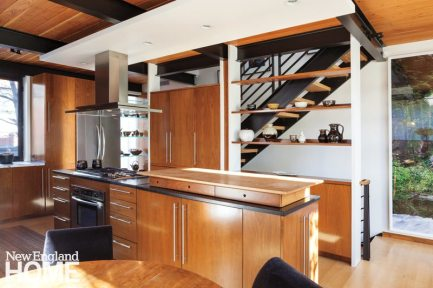 Contemporary Boston South End Townhouse Kitchen