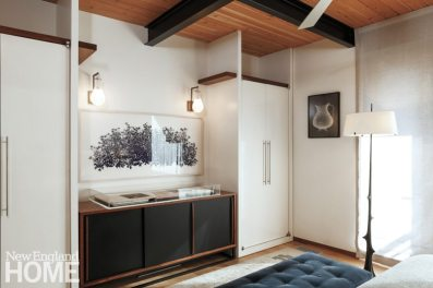 Contemporary Boston South End Townhouse Bedroom Storage