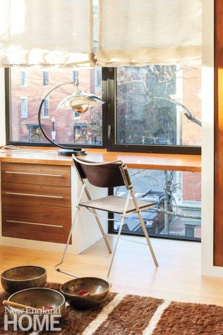 Contemporary Boston South End Townhouse Desk Area
