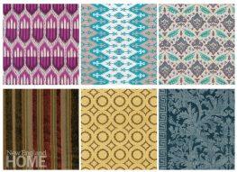 Colorful interpretations of tribal fabrics.