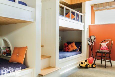 Cape Cod coastal bunk room