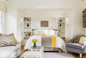 Cape Cod coastal all white bedroom