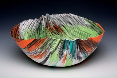 """Untitled from African Dream Series (1987), filet-de-verre, 6""""H"""