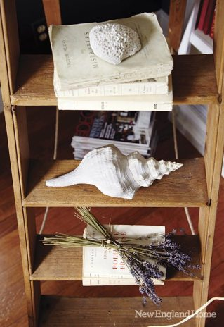 Collections of photographs, shells or old books--make pretty displays throughout the house.