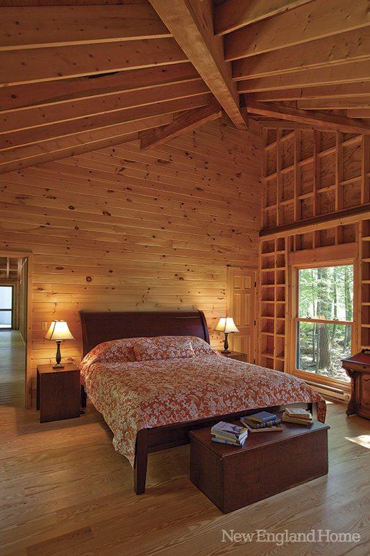 Bedrooms are tucked away in separate buildings.