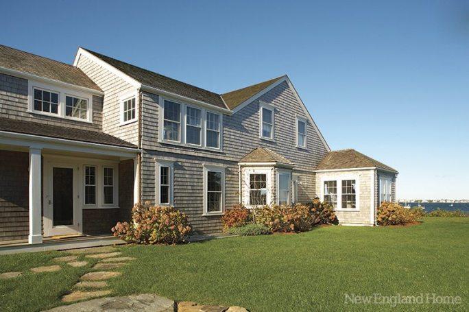 The classic exterior belies the home's more contemporary interior.