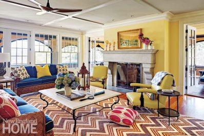 Rhode Island Shingle Style Living Room