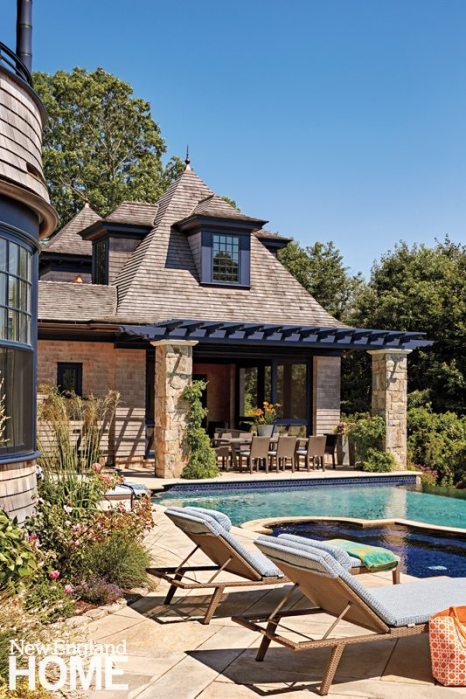 Rhode Island Shingle Style Pool House