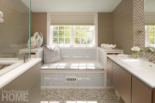 Contemporary bathroom designed by Heidi Pribell