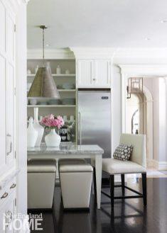 White kitchen in Brookline designed by Meyer & Meyer.