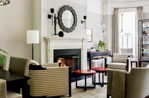 Nicole Hogarty Boston Townhouse for an Empty Nester Living Room