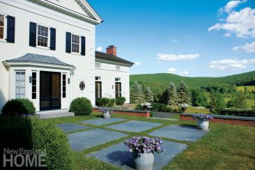 Litchfield County Neoclassical Rear Exterior