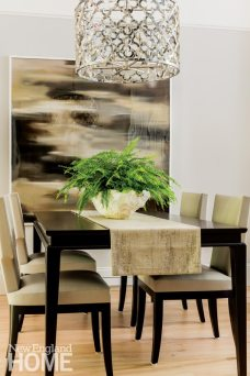 Nicole Hogarty Boston Townhouse Simple and Neutral Dining Space