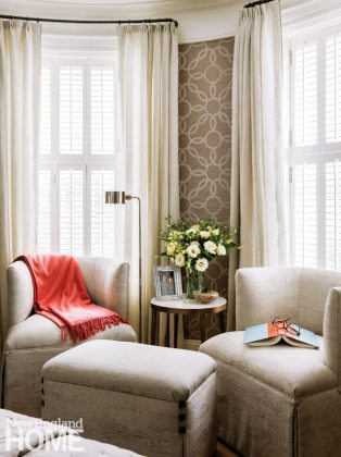 Nicole Hogarty Boston Townhouse Neutral Bedroom Sitting Area